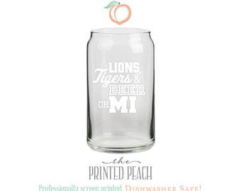 sale lions tigers u0026 beer oh mi dishwasher safe beer can glass