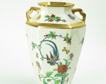 Vintage Pickard Etched China vase 1919-1922 artist signed Ingeborg Klein hand painted