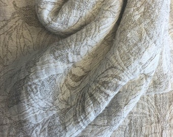 Pure Linen throw. Double sided bedspread . Sofa coverlet. Linen blanket. Picnic blanket . 63x87 inches ( 160x220 )