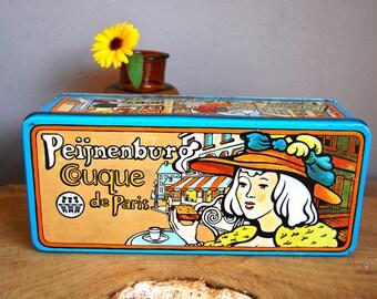 VINTAGE Peijnenburg Paris biscuit tin