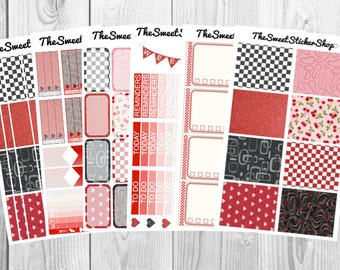 Retro Diner (100+ Stickers): for use with Erin Condren Vertical Planner (Weekly)