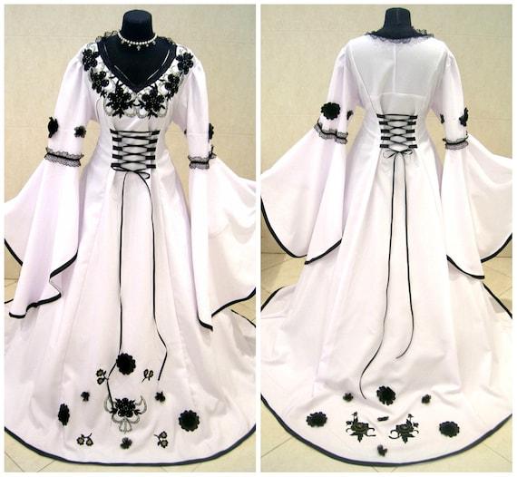 Medieval wedding dress 20 22 24 xl 2xl 3xl gothic costume witch larp