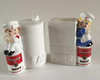 Collectable Cambells Soup Salt and Pepper Shakers