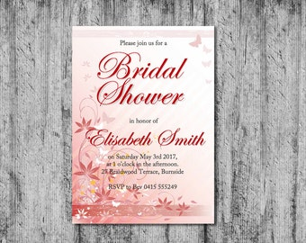 Downloadable Bridal Shower Invitation, Bridal Shower Invitation, Printable Bridal Shower Invitation, DIY Bridal Shower Invitation, DIY Cards