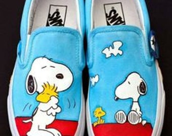 Vans Shoes Snoopy (Peanuts) hand painted!