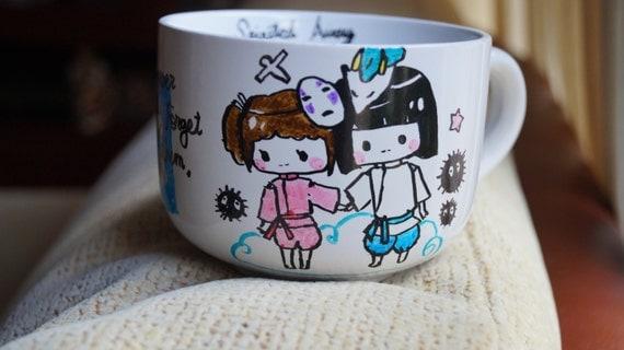 Spirited Away Bowl Cup Mug Ghibli