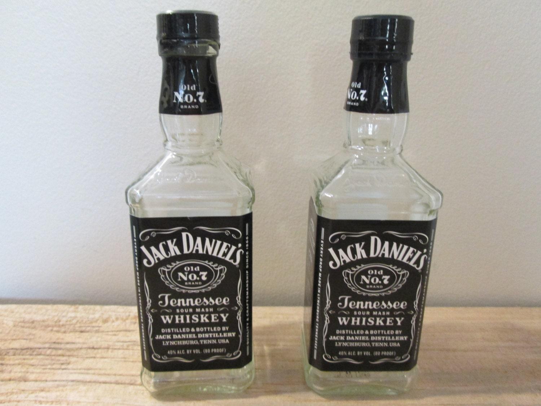Empty Jack Daniels Whiskey Bottles Set of 2 Bottles Pint Size