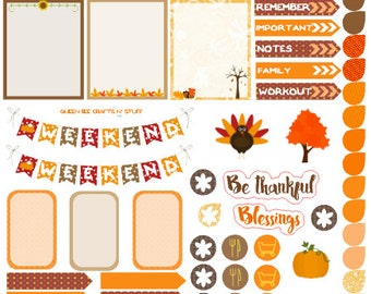 Thanksgiving Bounty - stickers for planners, journals, notebooks