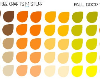 Fall Drop Tags - stickers for planners, notebooks, journals, calendars