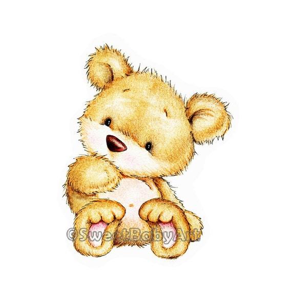 Teddy Bear Nursery Art Print Animal Nursery Decor By