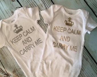 Keep Calm & Carry Me Onesie