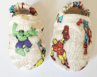 Superhero baby booties,superhero baby shoes, baby boy shoes, baby boy booties, baby girl shoes, crib shoes