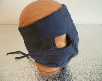 Vintage military, Gift idea. Party mask. Military mask.Gas mask. USSR 1970s. Blue.