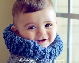 Baby's Grey Blue Chunky Scarf
