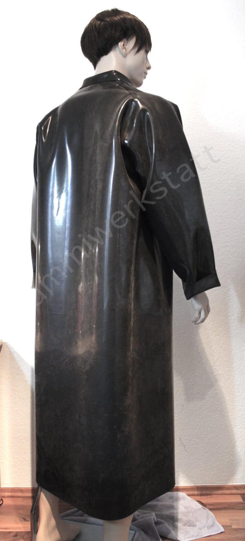 rubber coat raincoat macintosh with collar