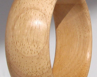 Bracelet wide wood Hevea