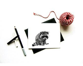 The raccoon card