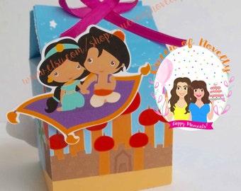 Aladdin Milk Boxes - Princess Jasmine - Small Candy Box - Milk Box - Candy Boxes - Set of 12