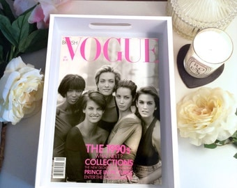 90s Supermodels Vogue Cover Tray