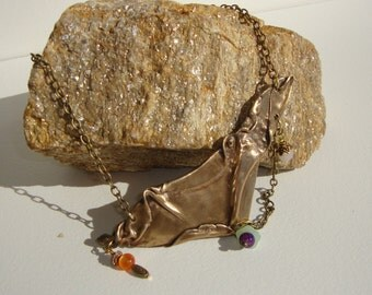 pure bronze ethnic necklace