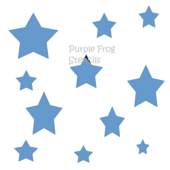 Stars STENCI... Different Size Star Stencil