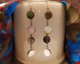 Handmade Mother of Pearl Dangle Earrings