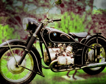 BMW Classic Black, Metal Prints, Motorcycle Prints, Motorcycle Art, Wall Art, Photography, Prints, Gifts for Him, Home Décor