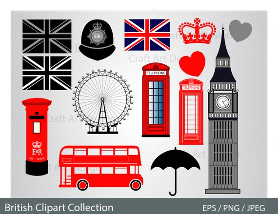 London Clipart British City Clip Art. Great Britain England.