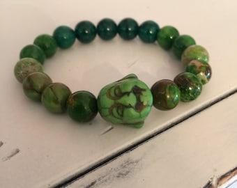 Happy Buddha Bracelet (Green)