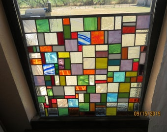 Multi colored stained glass wonder