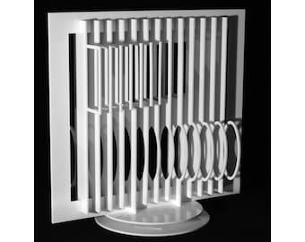 Object sculpture Op Art, Hajo Heinecke, 2014 / mobile