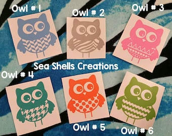 Owl Car Decal Etsy - Custom car decals nz   how to personalize