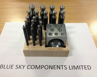 Doming / Dapping Set 18 Pc 18 Piece Hardened Steel Jewellers Tool 2.3 - 16.2mm