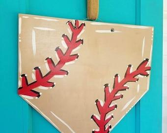 Wooden Home Plate Doorhanger