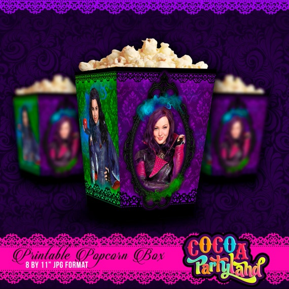 Disney Descendants Printable Popcorn Box