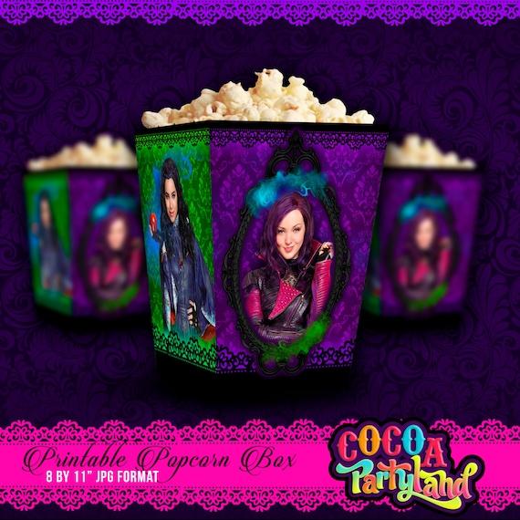 Disney Descendants Printable Popcorn Box
