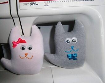 Two Cats Stuffed Animal, Toy Cat, White Cat, Stuffed Cat Doll
