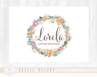 Floral Logo Design  Watercolor Logos, Custom Logo Designs, Premade Logos, Boutique Logos, Photography Logos, Floral Logos