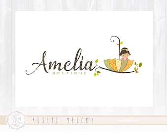 Girl Logo Design Baby Logo Design Children Logo Boutique Logo Photography Logo Design Watermark