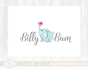 Elephant Logo Design Baby Logo Design Boutique Logo Party Logo Design Photography Logo Watermark