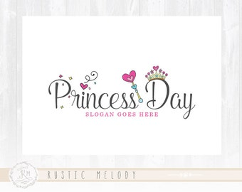 Children Logo Design Little Princess Logo  Girl Logo  Boutique Logo Kids Logo Watermark Photography Logo