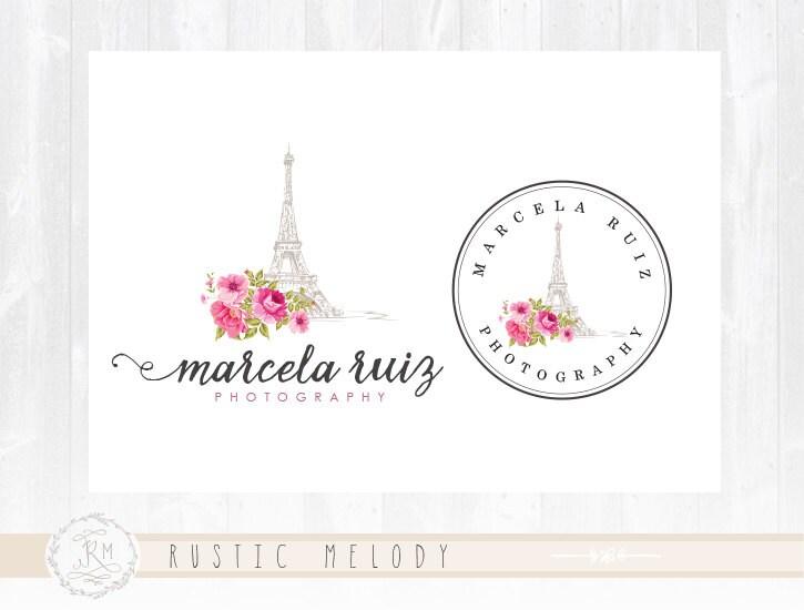 watercolour logo floral logo shabby chic logo boho logo Travel Wedding Logo Travel Wedding Logo #5 travel wedding logo