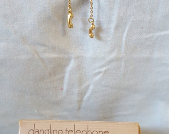 Dangling Telephone Earrings