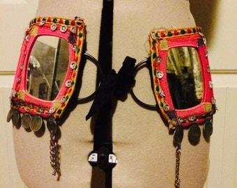Very old mirrored kuchi belt