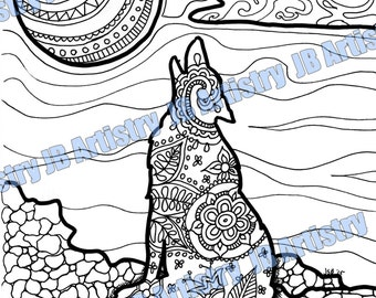 Coloring Page - Wolf