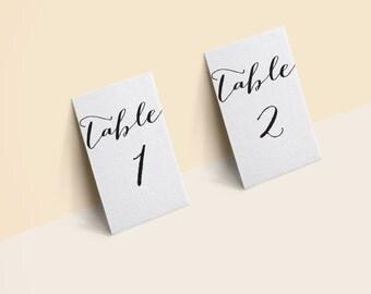 Table Number 1-50 4X6 black PRINTABLE