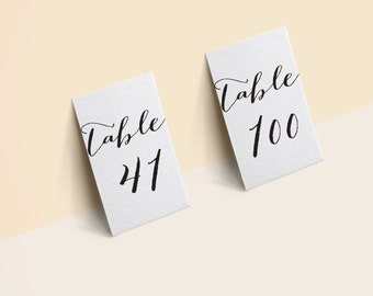 Table Number 41-100 4X6 black PRINTABLE