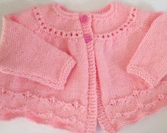 Newborn hand knitted girls cardigan SALE SALE SALE