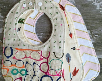 Baby bibs/ Choose any three bibs