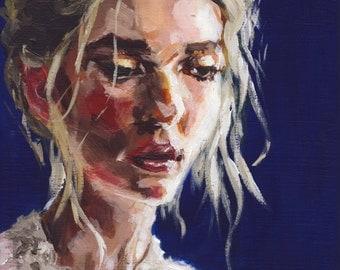 Shiner Blue - Original Acrylic Painting by Gabriel Frascella